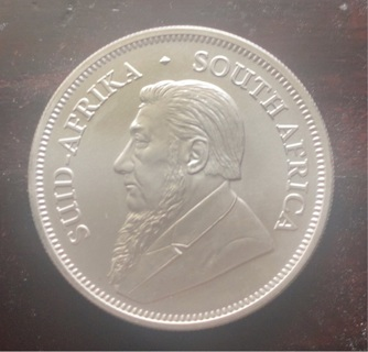 2019 SOUTH AFRICAN KRUGERRAND ONE OZ FINE SILVER