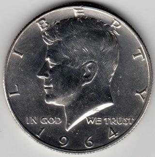 1964D Kennedy Half Dollar 90% Silver U.S. 50 Cent Coin