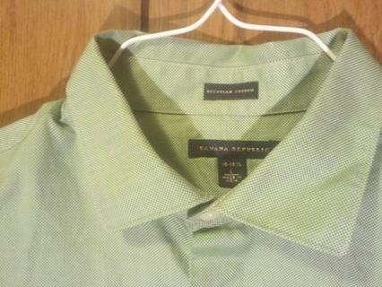 Sz: Large ~ Banana Republic ~ Egyptian Cotton Shirt - Lt. Green