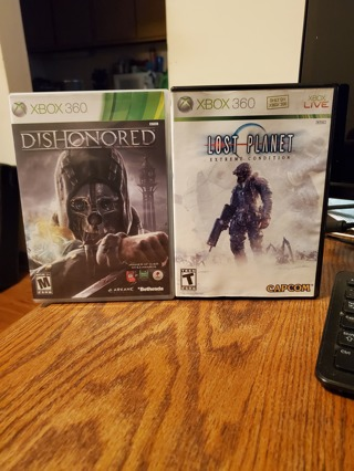 Dishonored & Lost Planet Xbox 360