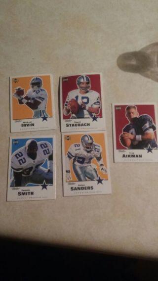 5 retro DALLAS COWBOYS trading cards