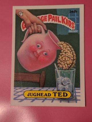 1987 Topps GPK JugHead Ted 262b Sticker Card