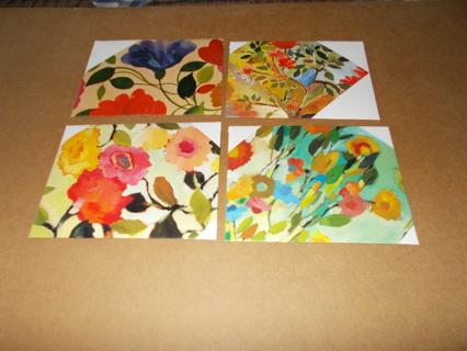 4 handmade envelopes