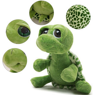 Big Eye Eyelid Tortoise Turtle Stuffed Animals Doll Plush Soft Hug Pillow Toys
