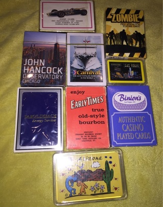 Playing Card Lot 9 Decks New and Used