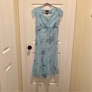 New $49 Megan Matthew's Floral Feminine Women's Dress M /10