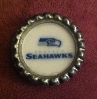Sea Hawks Bottlecap Magnet/Read description before bidding