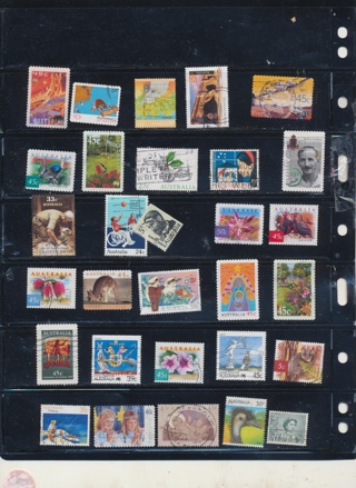 (30) Stamps from Austrlia,  All Different, Vintage, Used, Cancelled - AUS-113