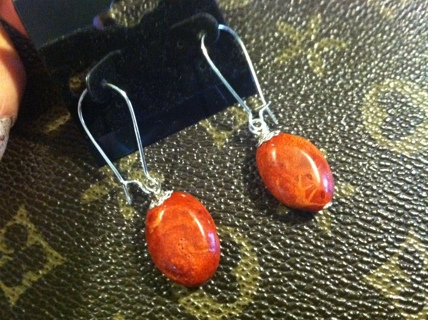 Australian sponge coral earrings (silverplated)****shipping charges apply***