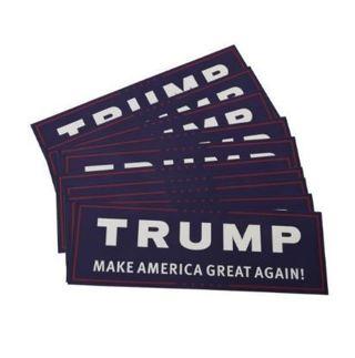 1 NEW President Donald Trump Support Sticker Bumper Sticker Make America Great FREE SHIPPING