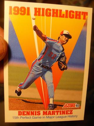 Dennis Martinez Baseball Card