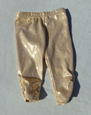 Shiny Gold Wonder Woman Baby Girl Bottoms Size 3/6 mo