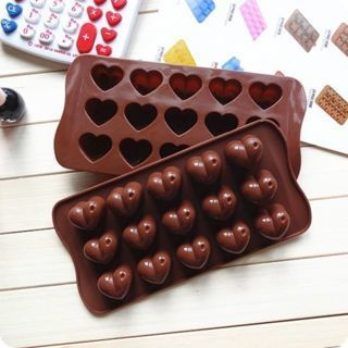 Silicone Heart Chocolate Molds Jelly Ice Molds Cake Mould Bakeware