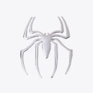 New 3D Silver Spider Car Stickers Car Body Individuation Decoration Sunproof
