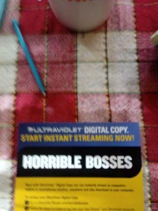 Horrible Bosses VUDU Code