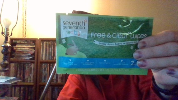 Seventh Generation Baby Free & Clear Wipes Sample ( 2 Unscented Wipes )
