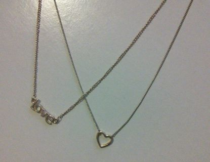 """Love"" Two Piece Necklace set"