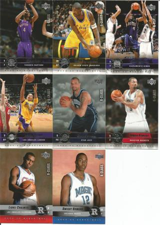 8 basketball cards 2004 upper deck