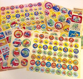 200+ TONKA Chuck & Friends ENCOURAGEMENT-REWARD STICKERS!  teachers, potty training, chore charts...