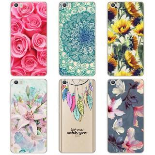 TPU Soft Cases For Xiaomi Mi5 Mi 5 M5 Transparent Printing Drawing Phone Cases Cover For Xiaomi mi