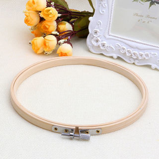 [GIN FOR FREE SHIPPING] Wooden Cross Stitch Machine Embroidery Hoop Ring Bamboo Sewing