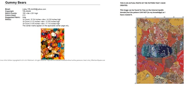 Gummy Bears Cross Stitch Pattern