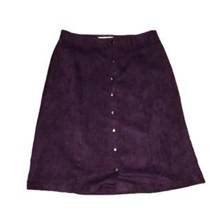CROFT & BARROW Purple Velvet Skirt Size 12
