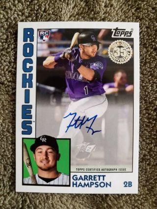 2019 Topps Update 1984 Rookie Autograph Garrett Hampson