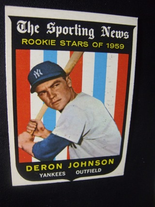1959 TOPPS EXMT - NRMT BASEBALL CARD NO. 131 - DERON JOHNSON ROOKIE - YANKEES