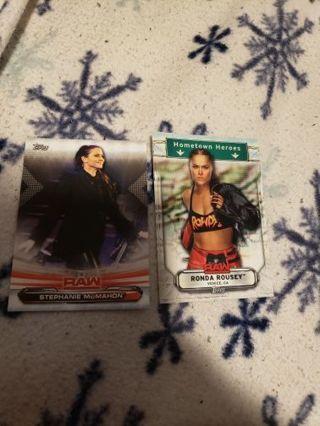 Stephanie McMahon and Ronda Rousey wwe