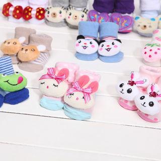 Wondrous Baby Boy Girl Anti Slip Cotton Socks Boots Shoes Cartoon 0-12 Months