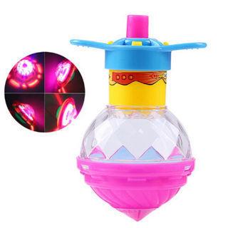 Luminous Gyro Flash Gyroscope Glowing Burst LED Spinning Top Toys