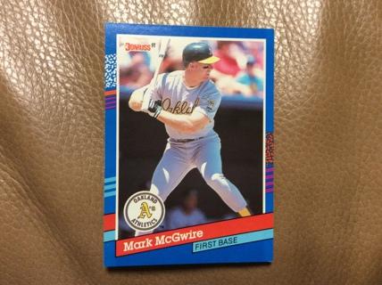 Free Mark Mcgwire 1991 Donruss Baseball Card 105 Oakland Athletics
