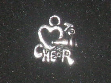 1 New I love Cheer silver Cheerleading Charm