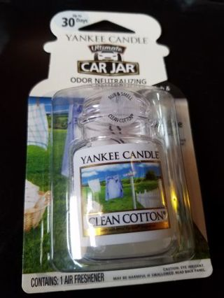Yankee Candle Ultimate Car Jar ⭐️ Clean Cotton Scent
