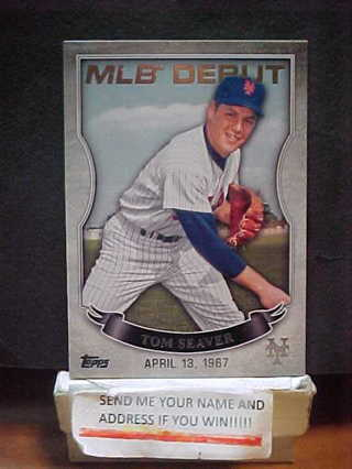 Free 2106 Tom Seaver Topps Mlb Debut Baseball Card New