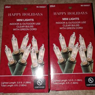 New! 2 packs of Holiday Lights