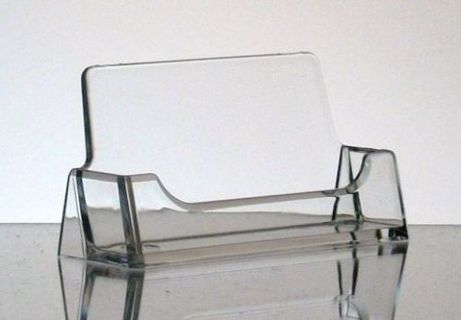 1 pc New CLEAR Acrylic Desktop Business Card Holder Display