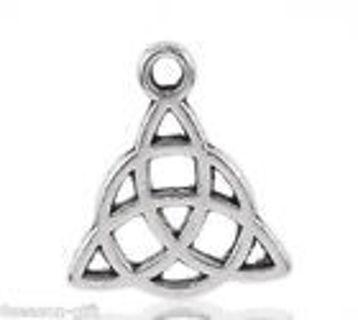 Fancy Silver tone celtic knot charm