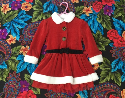 KOALA KIDS CHILDREN'S SANTA DRESS 12/18 MONTHS FREE SHIPPING