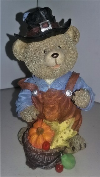 "Very detailed hollow ceramic Halloween Bear - 6"" tall - Excellent condition"