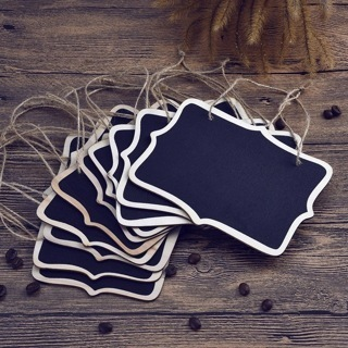 10PCs/Lot Mini Wedding Table Numbers Single Side Chalkboard Place Cards Hanging Chalkboard