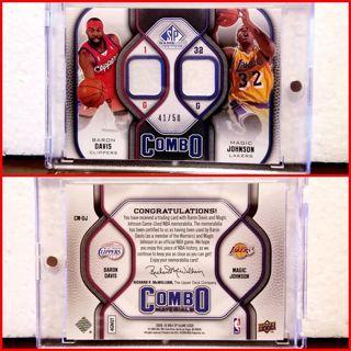 Magic Johnson & Barron Davis > #'d 41/50 Dual player Dual patch > L.A. LAKERS vs L.A. CLIPPERS