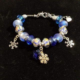 First Snow, Euro bracelet, Creations by Cris