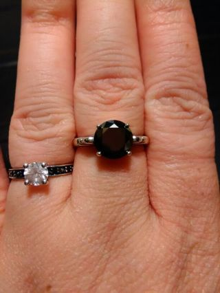 2.03 Black diamond ring size 7