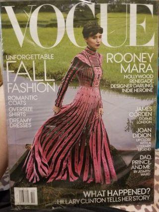 Vogue Magazine October 2017 brand new sealed!!