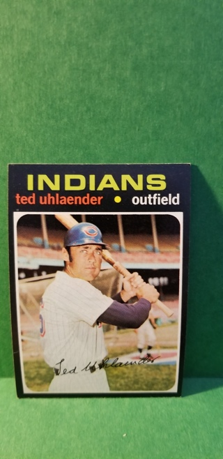 1971 - TOPPS EXMT - NRMT BASEBALL - CARD NO. 347 - TED UHLAENDER - INDIANS