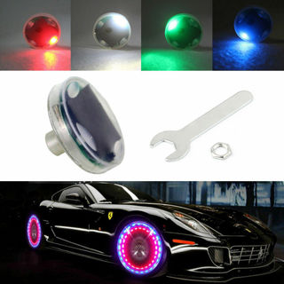 Universal LED Auto Car Solar Energy Flash Wheel Tire Light Lamp DH Colorful