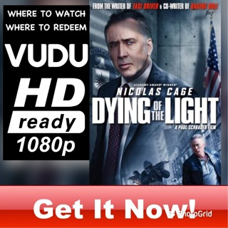 DYING OF THE LIGHT HD VUDU CODE ONLY