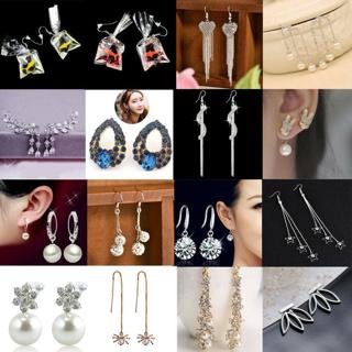 1 Pair Fashion Women Lady Elegant Crystal Rhinestone Dangle Ear Stud Earrings
